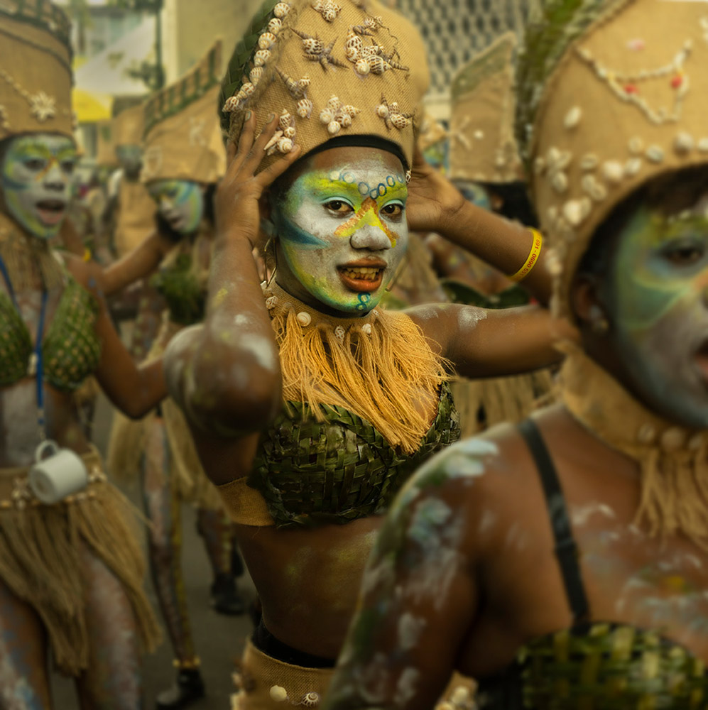Basse-Terre, Guadeloupe Lundi Gras Carnaval Parade, February 24, 2020.© Don Burmeister. (Click image for larger version)