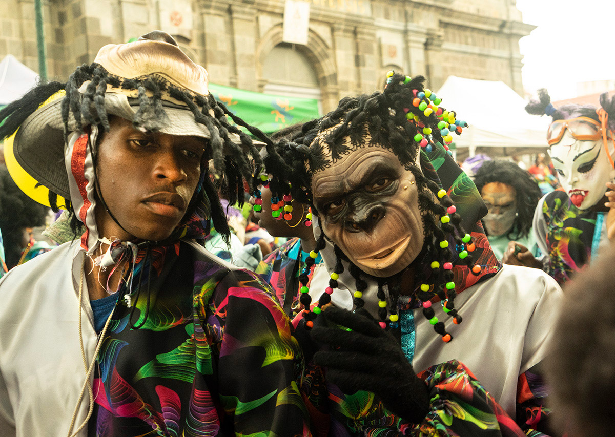 Basse-Terre, Guadeloupe Mardi Gras Carnaval Parade, February 25, 2020.© Don Burmeister. (Click image for larger version)