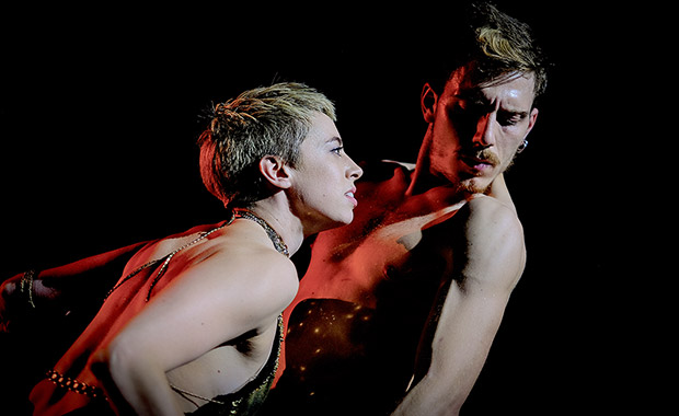 Harriet Waghorn and Carmine De Amicis in <I>Salomé</I>.<br />© Mark Lamb. (Click image for larger version)