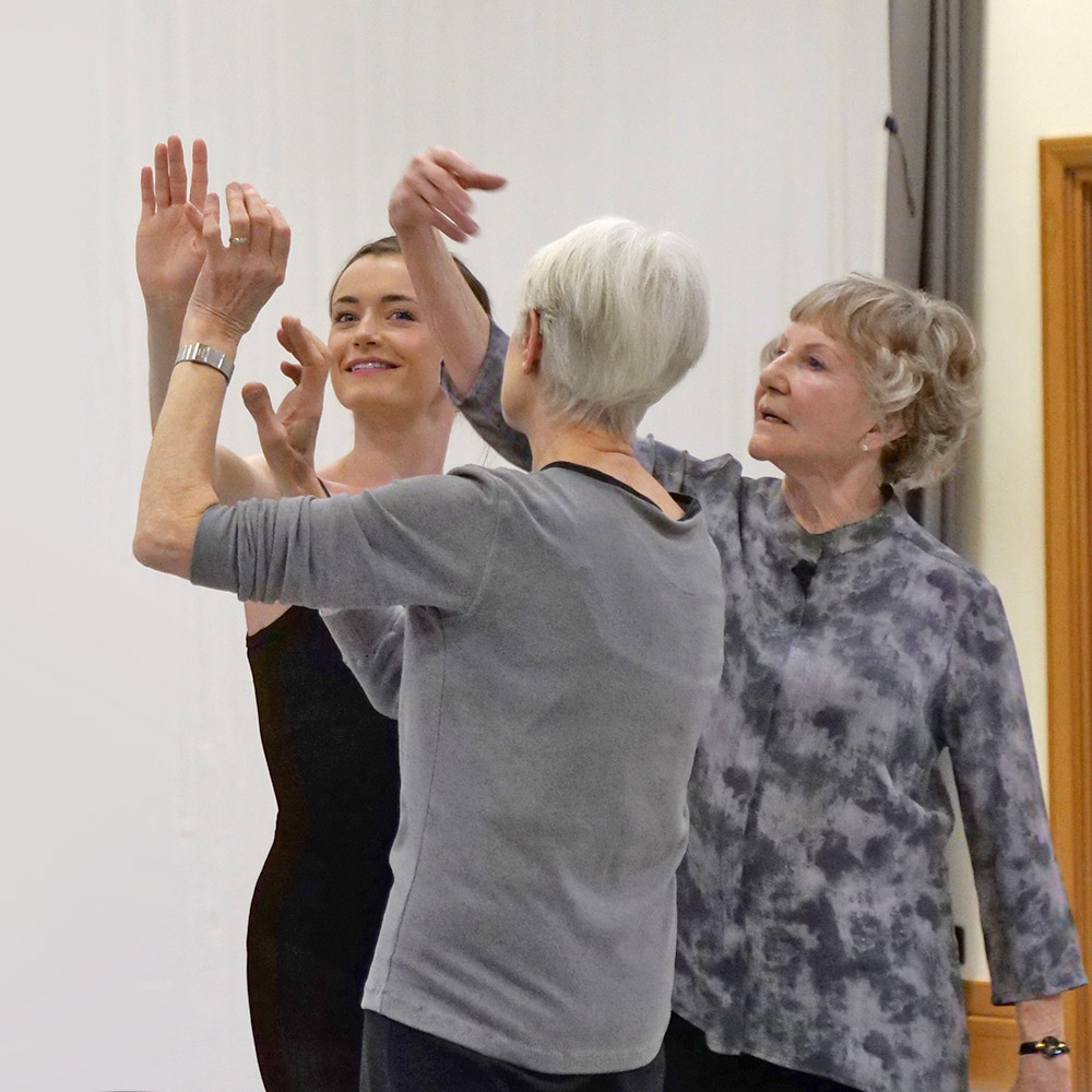 Anna Rose O'Sullivan, Ann Whitley and Merle Park at the Voices of Spring masterclass.© Rachel Hollings. (Click image for larger version)