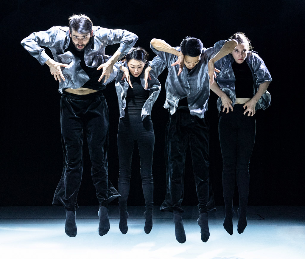 George Baan, Zhao Zhibo, JiaoLong Ma and Chloe Hillyar in LIMBO 无间.© Foteini Christofilopoulou. (Click image for larger version)