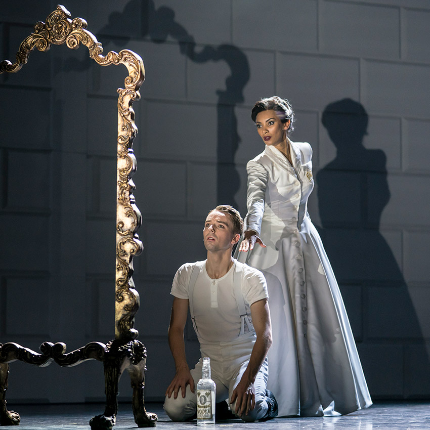 Liam Mower and Nicole Kabera in Swan Lake.© Johan Persson. (Click image for larger version)