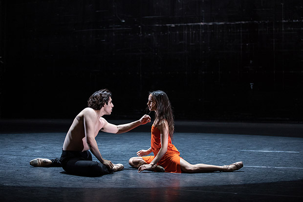 Francesca Hayward and Cesar Corrales in <I>Morgen</I>.<br />© Lara Cappelli, courtesy the Royal Opera House. (Click image for larger version)