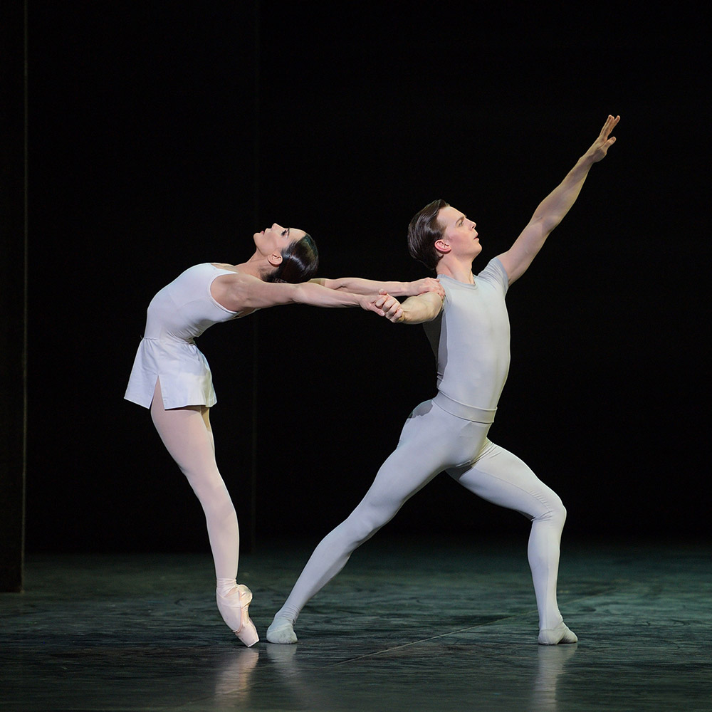 Tamara Rojo and Joseph Caley in Song of the Earth.© Laurent Liotardo. (Click image for larger version)
