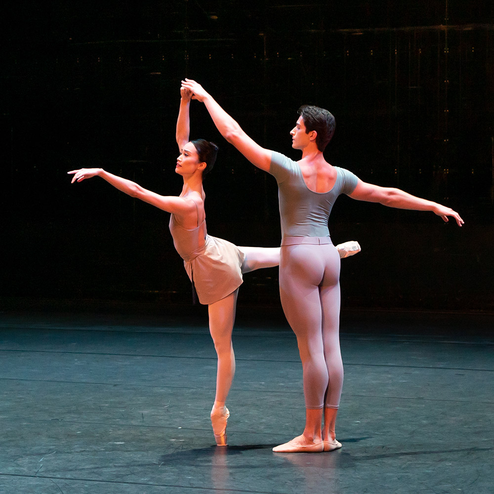 Reece Clarke and Fumi Kaneko in Concerto.© Ruairi Watson, courtesy the Royal Opera House. (Click image for larger version)