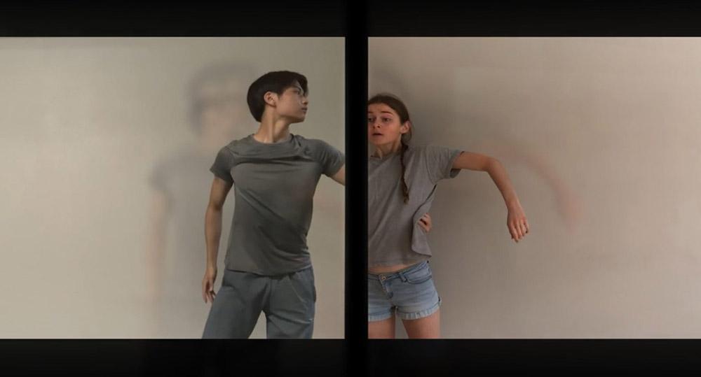Hannah Nash and Gouta Seki in Andrew McNicol's Gradus - screen grab.© ENB School. (Click image for larger version)