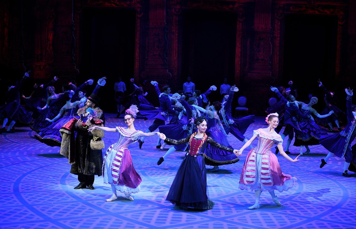 Katja Khaniukova, Tamara Rojo and Emma Hawes in Cinderella.© Laurent Liotardo. (Click image for larger version)