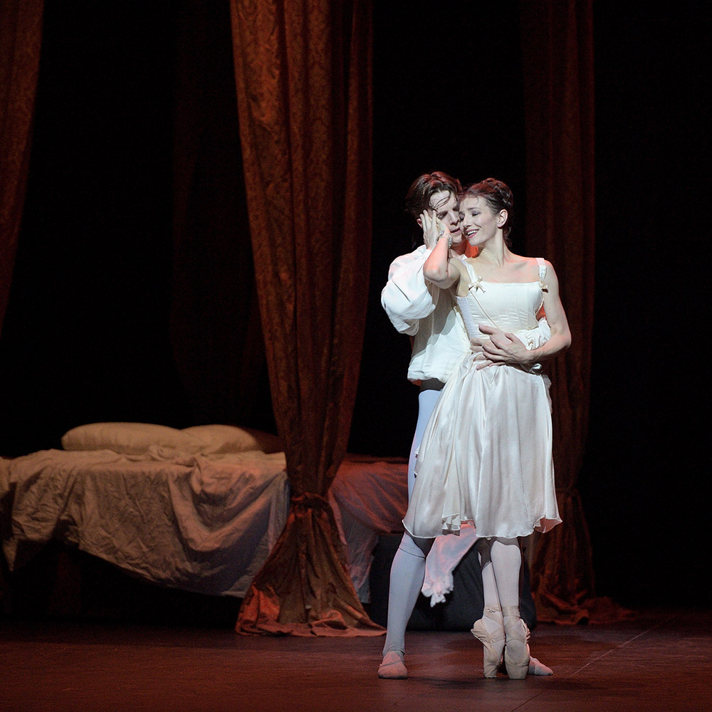 Alina Cojocaru and Joseph Caley in Manon.© Laurent Liotardo. (Click image for larger version)