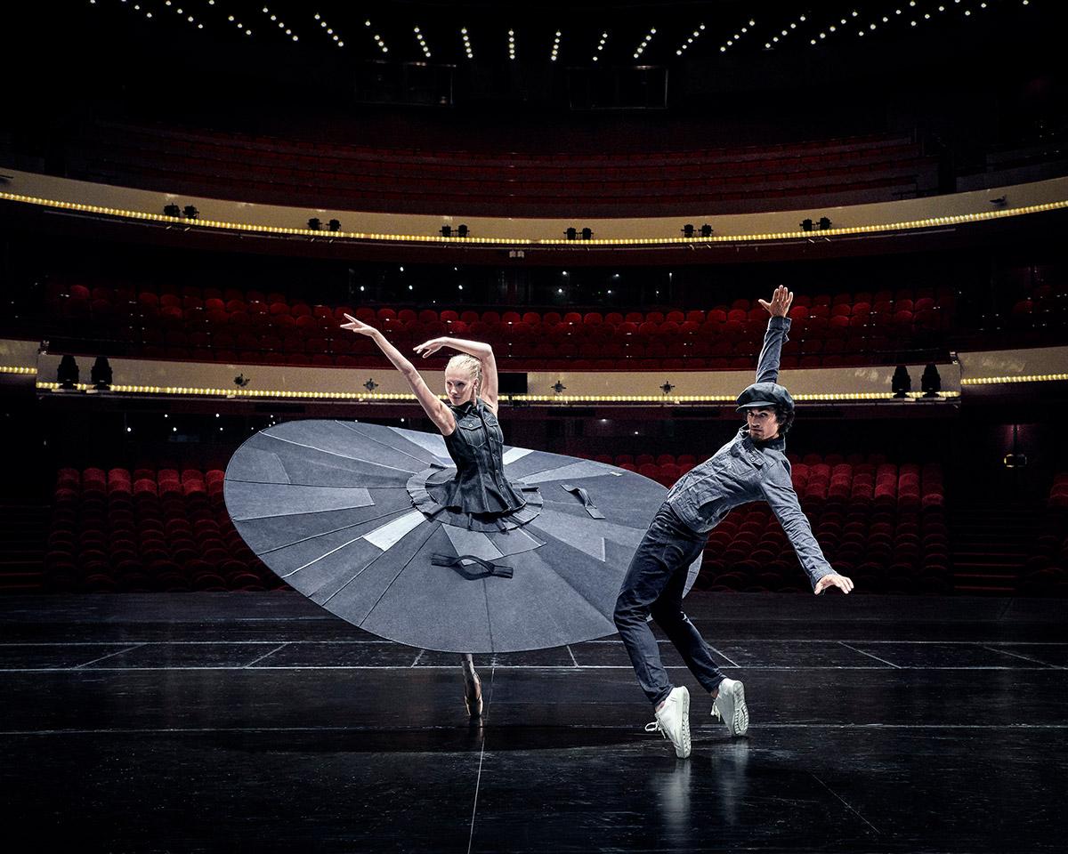 Het Nationale Ballet in Safe Distance Ballet, a collaboration with G-Star RAW.© Lesley Weitjes. (Click image for larger version)