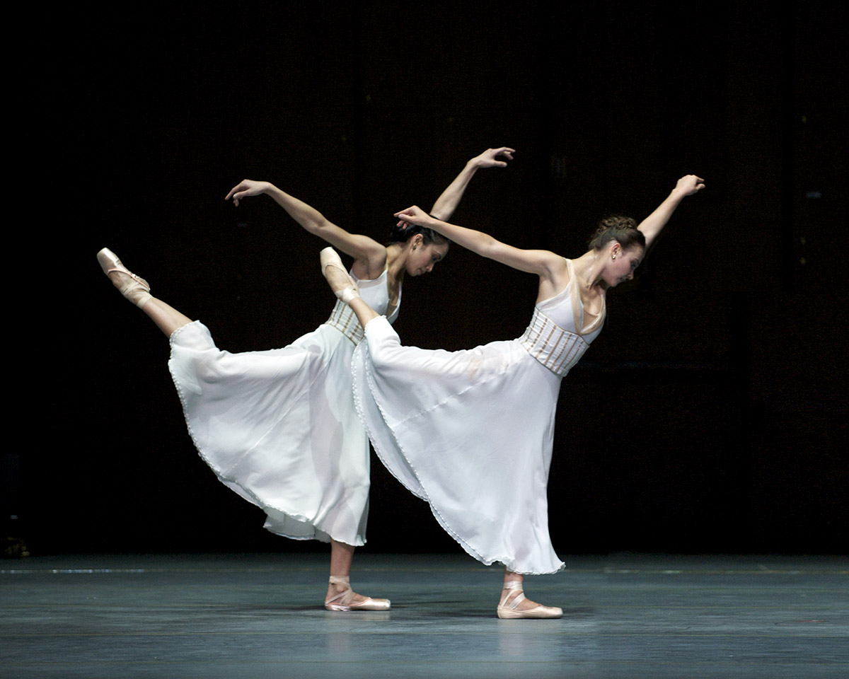 Stella Abrera and Christine Shevchenko in <I>Seven Sonatas</I>.<br />© Gene Schiavone. (Click image for larger version)