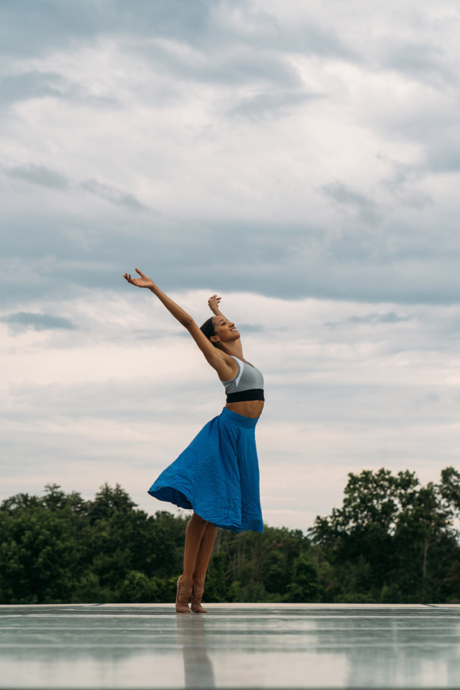 Kaatsbaan Summer Festival: Courtney Lavine at the dress rehearsal.© Quinn Wharton. (Click image for larger version)