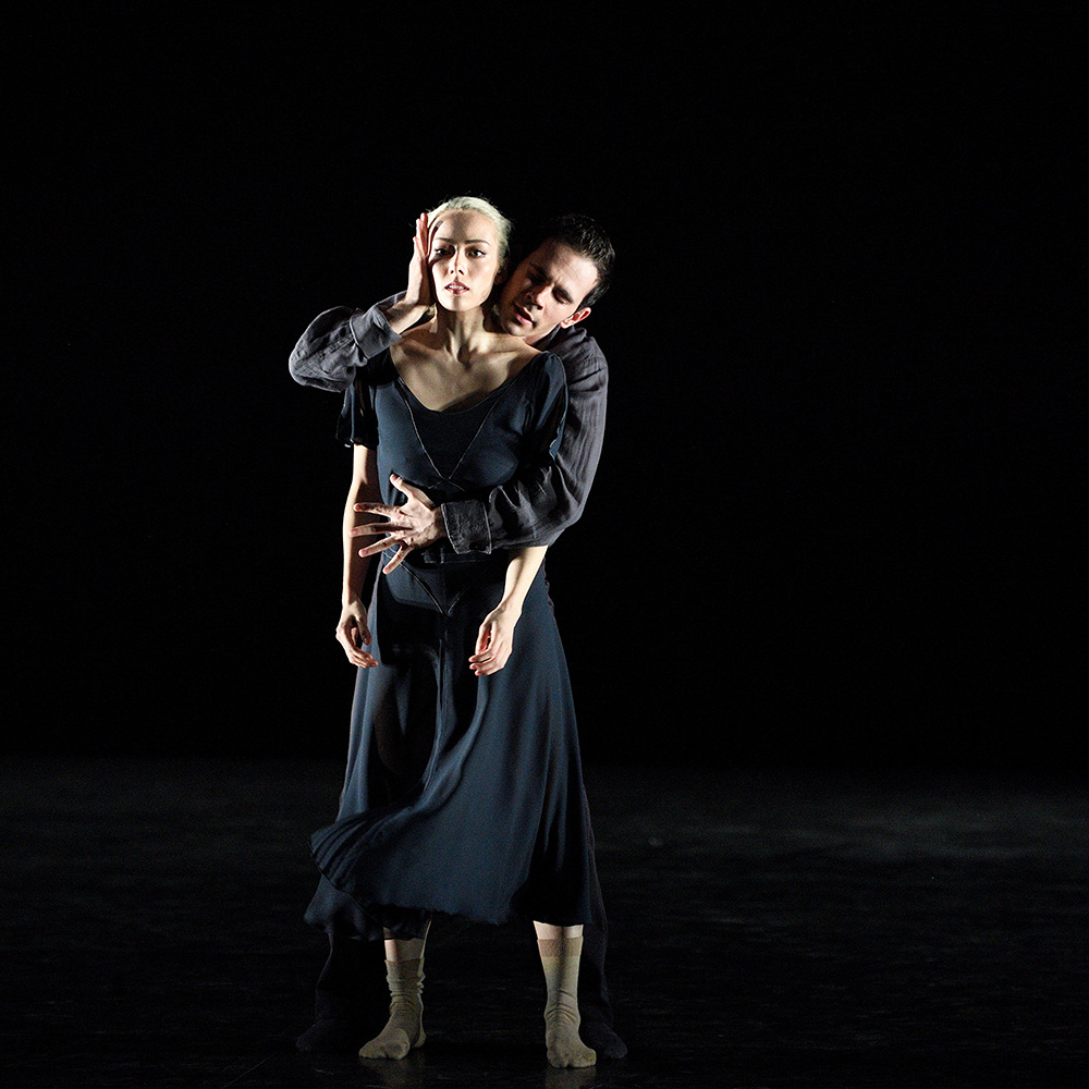 Emily Suzuki and Victor Prigent in Stina Quagebeur's <I>The Hollow</I>.<br />© Laurent Liotardo. (Click image for larger version)
