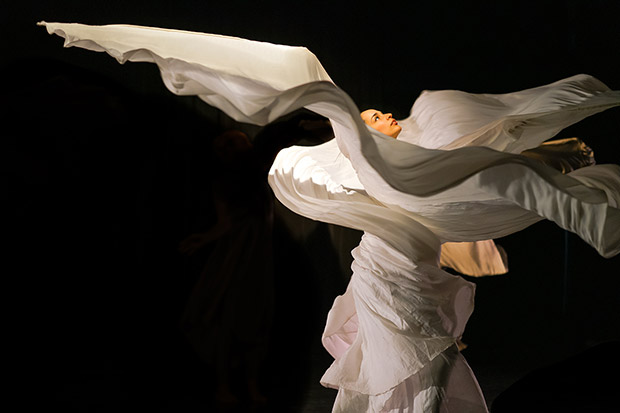 Alejandra Dominguez in Jody Sperling's <I>Ice Cycle</I>.<br />© Paul Bloomfield. (Click image for larger version)