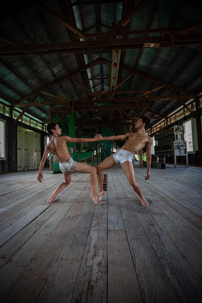Alejandro Seguro and Eduardo Jimenez in Amen, from the Dance Goes On shorts program.© Alonso Segura More. (Click image for larger version)