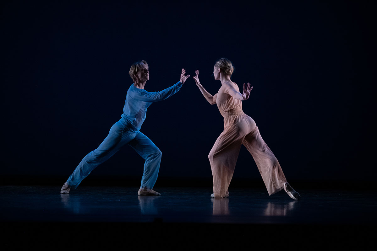 Sara Mearns and David Hallberg in Wheeldon's <I>The Two of Us</I>.<br />© Christopher Duggan. (Click image for larger version)