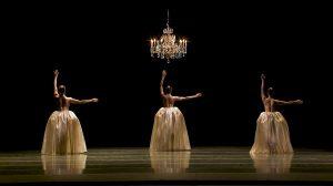 Amanda Morgan, Cecilia Iliesiu and Juliet Prine in Eva Stone's Foil - screen grab.© Pacific Northwest Ballet. (Click image for larger version)