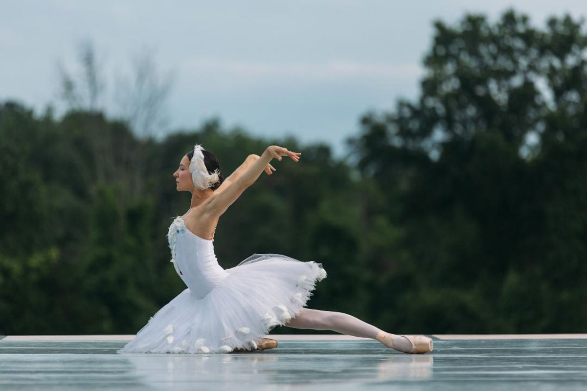 Christine Shevchenko at the Kaatsbaan Summer Festival.<br />© Quinn Wharton (Click image for larger version)