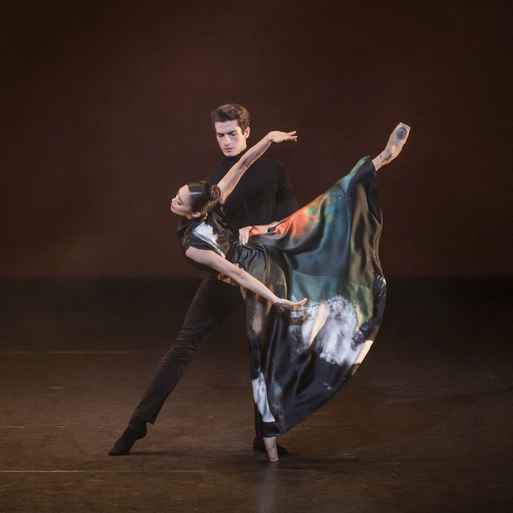 Reece Clarke and Fumi Kaneko in <I>In Our Wishes</I>.<br />© Tristram Kenton, ROH. (Click image for larger version)