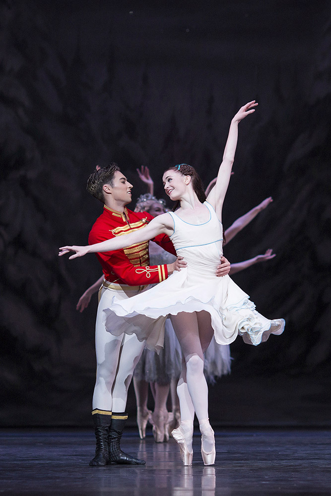 Anna Rose O'Sullivan and James Hay in The Nutcracker.© Helen Maybanks, courtesy the Royal Opera House. (Click image for larger version)