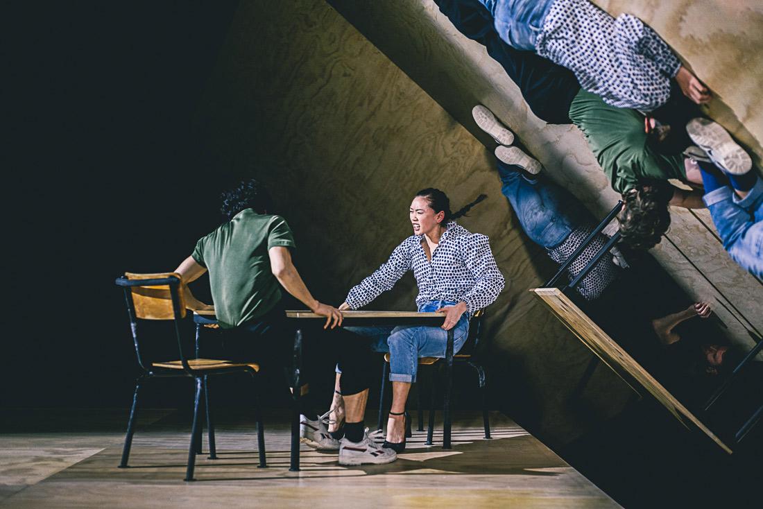 Surimu Fukushi and Nicole Ishimaru in <I>I wonder where the dreams I don't remember go</I>.<br />© Rahi Rezvani. (Click image for larger version)