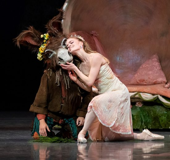 Sasha De Sola and Lucas Erni in Balanchine's A Midsummer Night's Dream.Photo © Erik Tomasson. Choreography © The Balanchine Trust. (Click image for larger version)