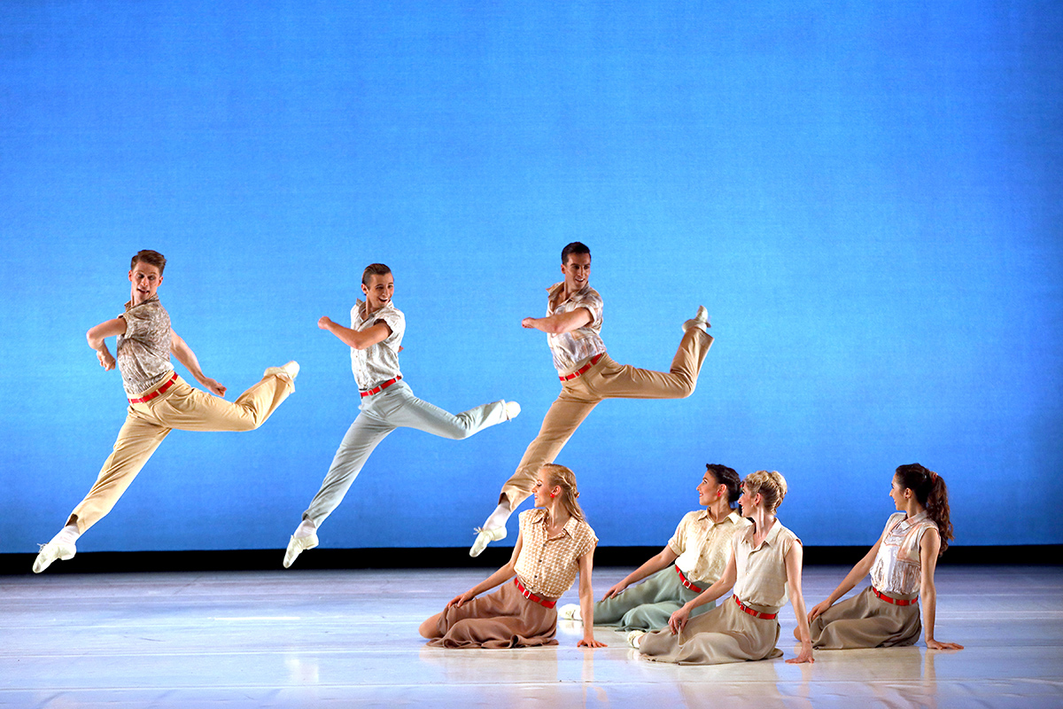 Sarasota Ballet in Paul Taylor's <I>Company B</I>.<br />© Frank Atura. (Click image for larger version)