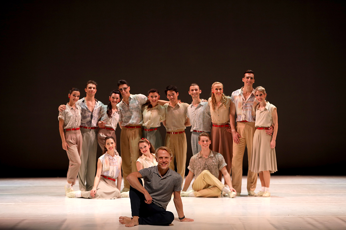 Michael Trusnovec and the Sarasota Ballet cast of Paul Taylor's Company B.© Frank Atura. (Click image for larger version)