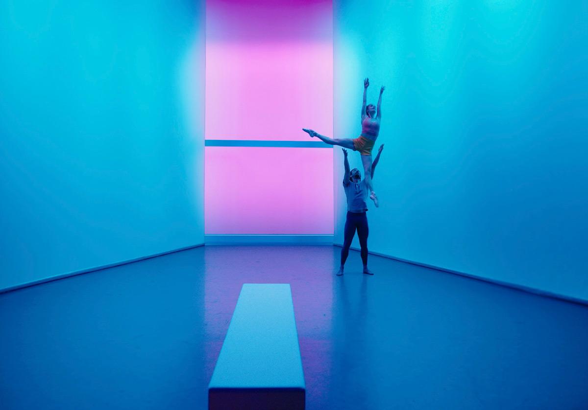 Sasha De Sola and Ulrik Birkkjaer in Thatcher's Colorforms.© San Francisco Ballet. (Click image for larger version)