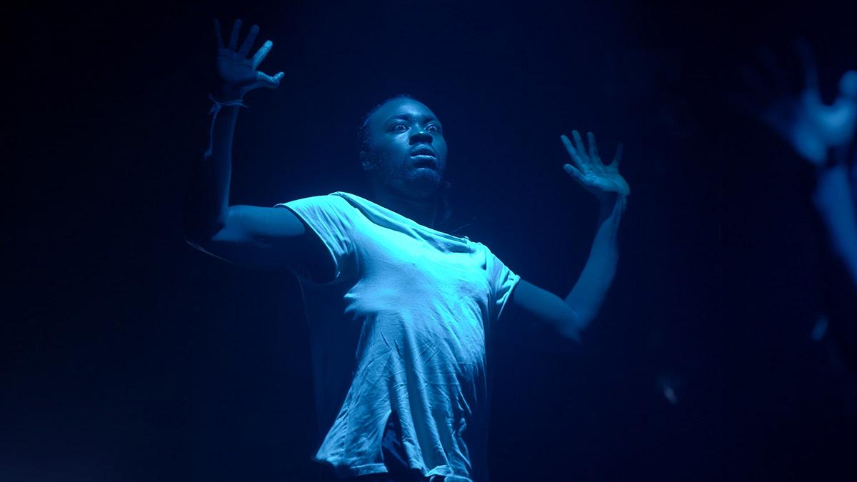 Matsena Productions <I>Shades of Blue</I>.<br />© still from Sadler's Wells & BBC Arts <I>Dancing Nation</I>. (Click image for larger version)