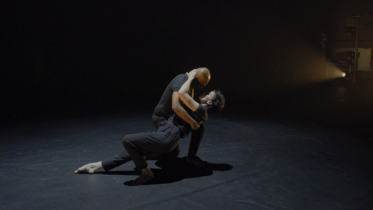 Akram Khan and Natalia Osipova in <I>Mud of Sorrow: Touch</I>.<br />© still from Sadler's Wells & BBC Arts <I>Dancing Nation</I>. (Click image for larger version)