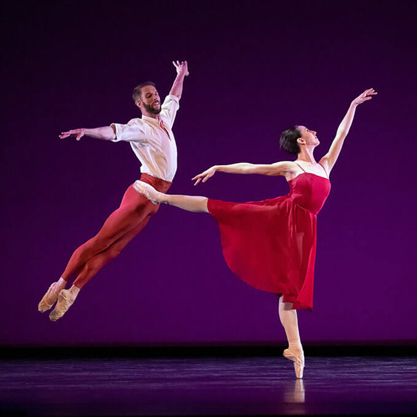 Isabella Boylston and James Whiteside in <I>The Seasons</I>.<br />© Christopher Duggan. (Click image for larger version)
