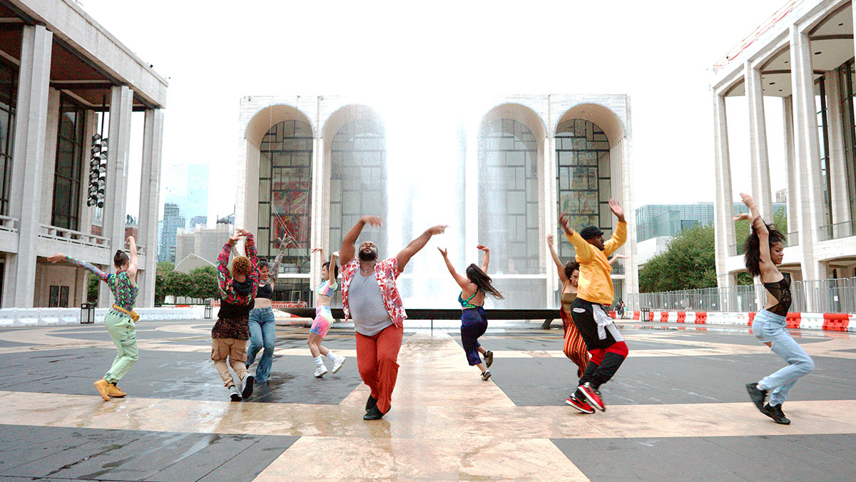 Works & Process at Lincoln Center: Les Ballet Afrik with Omari Wiles. Featuring Milerka Rodriguez, Algin Ford-Sterling, Eva Bust A' Move, Yuki Sukezane, Kameron N. Saunders, Shireen Rahimi, Alora Martinez, Karma Stylz, and Kya Azeen.<br />© Dancing Camera. (Click image for larger version)