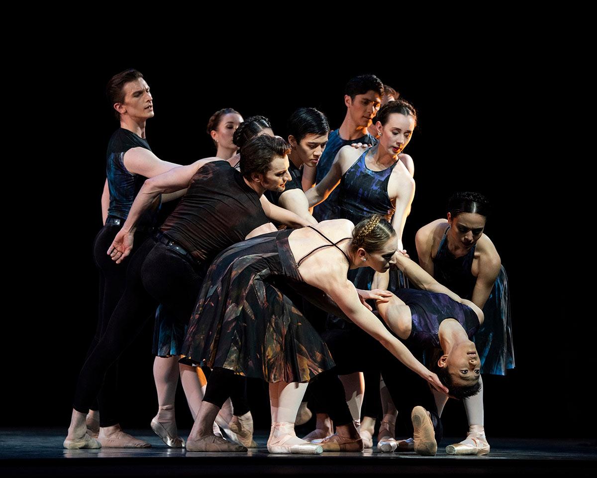 San Francisco Ballet in Ratmansky's Symphony #9.© Erik Tomasson. (Click image for larger version)