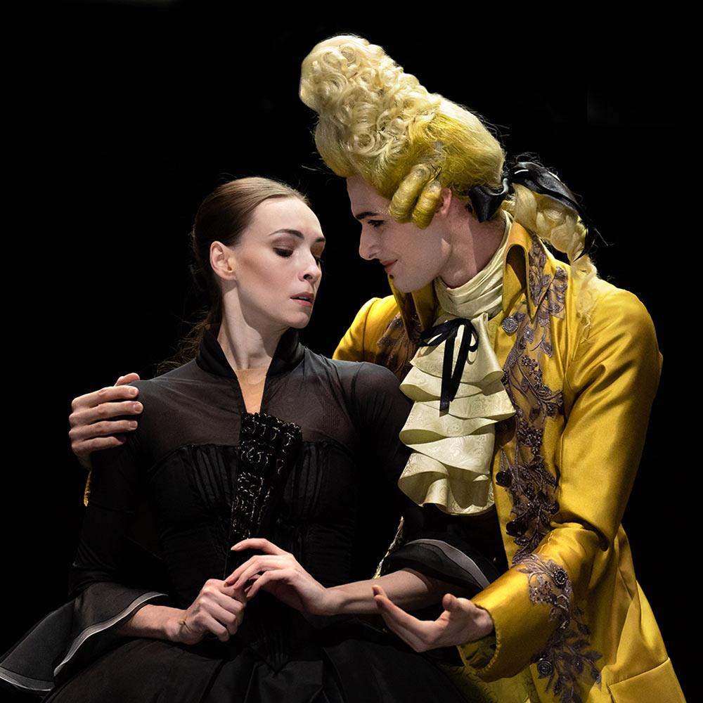 Olga Smirnova and Jacopo Tissi in <I>Orlando</I>.<br />© Natalia Voronova. (Click image for larger version)