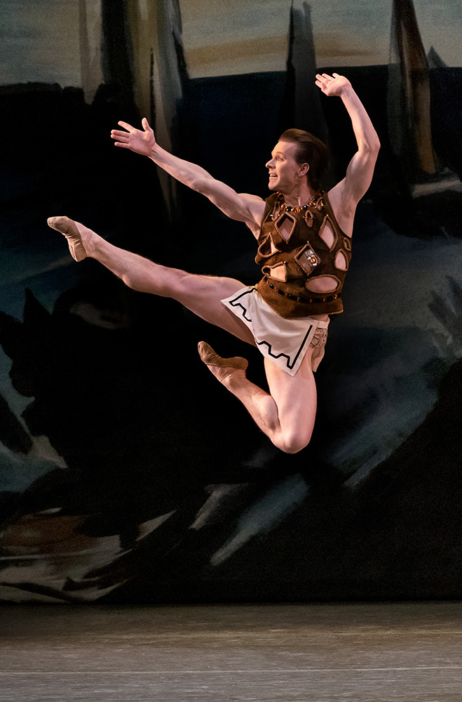 Daniel Ulbricht in George Balanchine's Prodigal Son.© Paul Kolnik. (Click image for larger version)