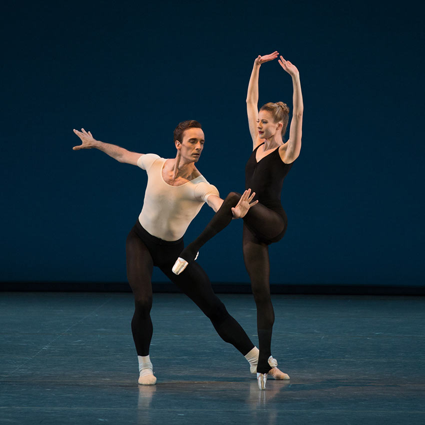 Sterling Hyltin and Ask La Cour in George Balanchine's <I>Stravinsky Violin Concerto</I>.<br />© Rosalie O'Connor. (Click image for larger version)