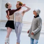 Twyla Tharp in the studio with Steven McRae and Sarah Lamb.© Tristram Kenton. (Click image for larger version)