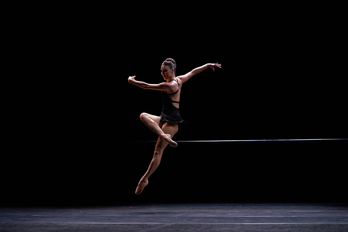 Tiler Peck in <I>The Barre Project</I>.<br />© CLI Studios/The Barre Project. (Click image for larger version)