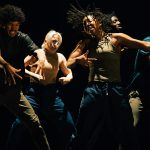 Just Us Hip Hop Apprenctice Co - Cache Thake, Penelope Klamert, Aisha Webber, Dilyon Graham & Leroy Kanyowa.© Elliott Banks. (Click image for larger version)