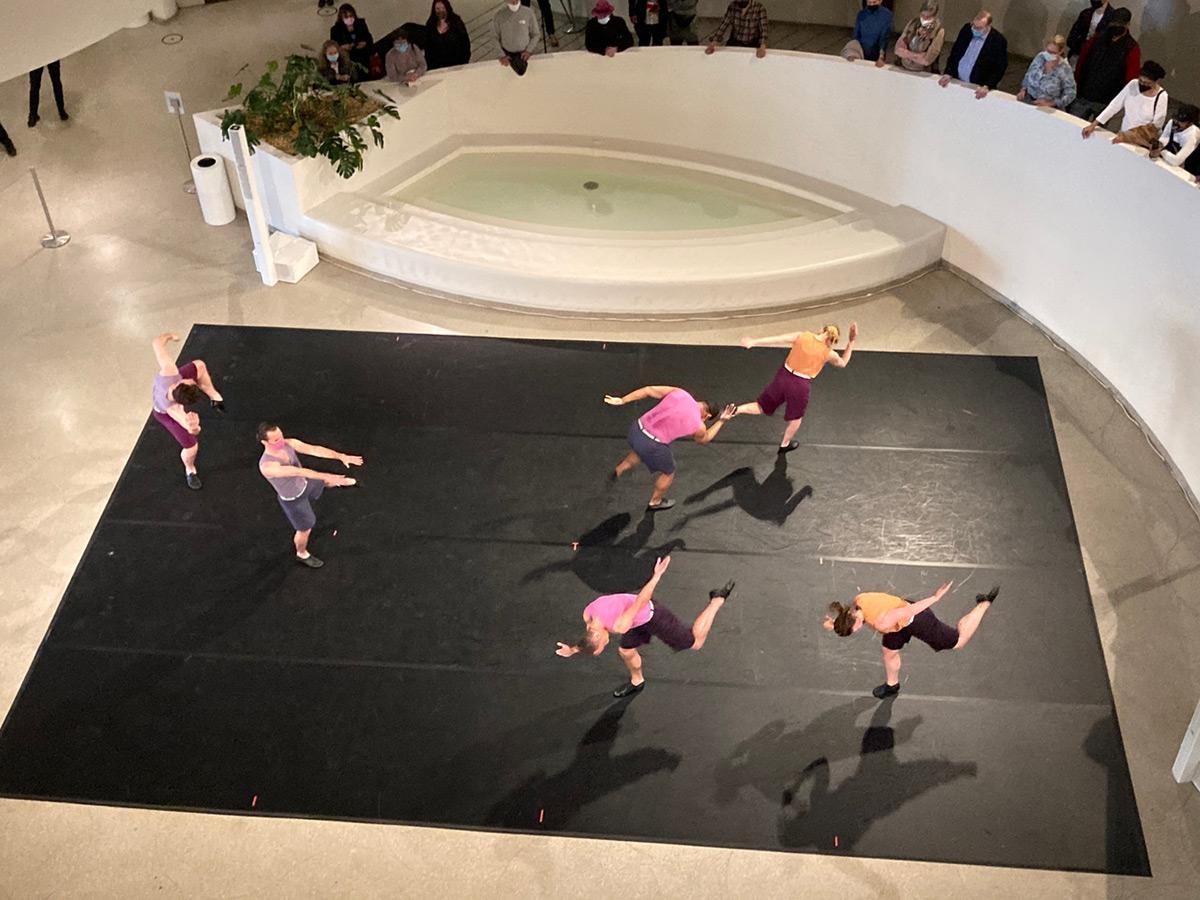 Mark Morris Dance Group in <I>Words</I> at the Guggenheim.<br />© Marina Harss. (Click image for larger version)