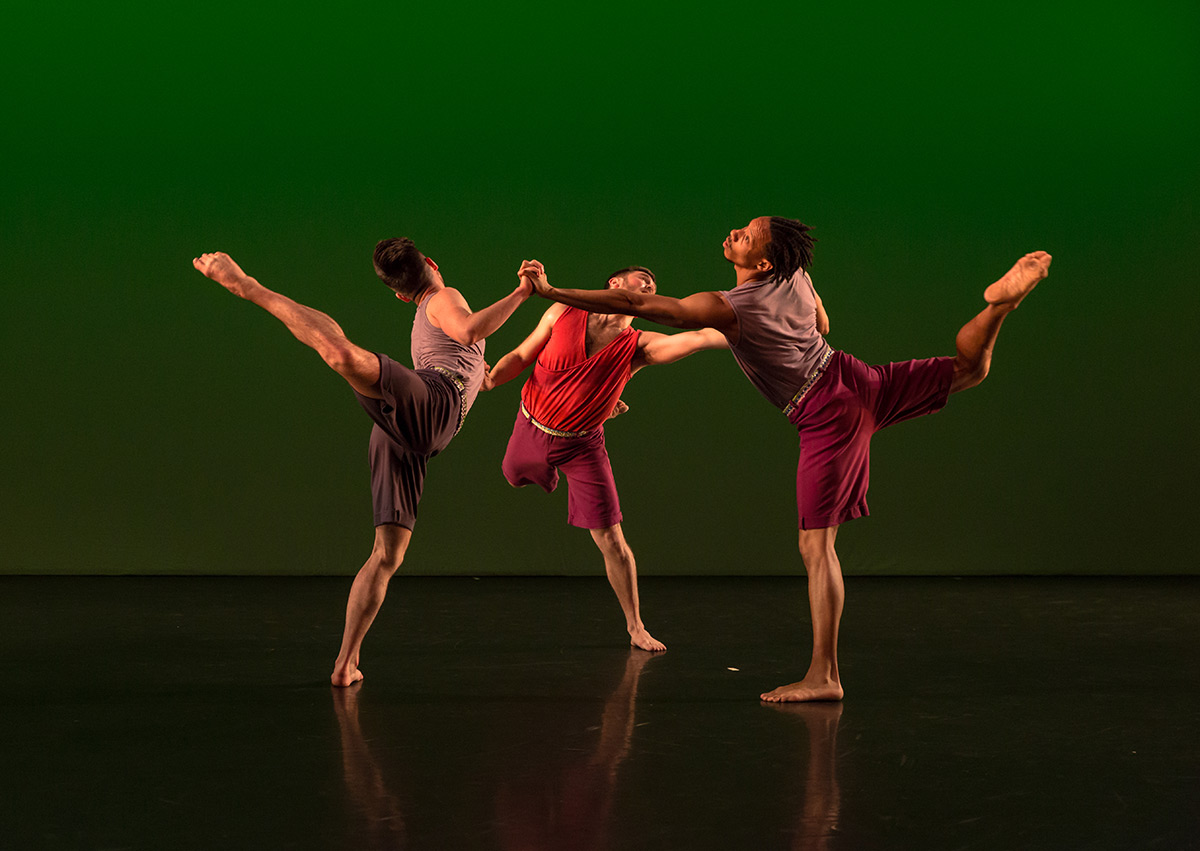 Mark Morris Dance Group in <I>Words</I> - danced in Brooklyn, 2018.<br />© Quinn Wharton. (Click image for larger version)