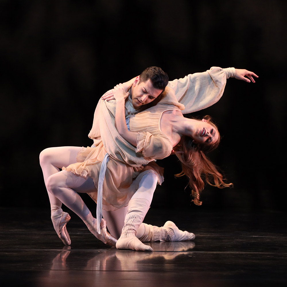 Danielle Brown and Ricardo Graziano in Ashton's The Walk to the Paradise Garden.© Frank Atura. (Click image for larger version)
