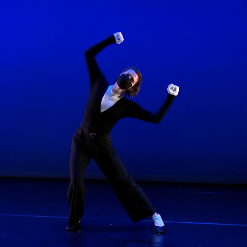 Laurel Lynch in Three Preludes.© Mark Morris Dance Group. (Click image for larger version)