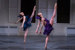 Amanda Treiber & Mónica Lima in James Whiteside's Mamborama.© Richard Termine. (Click image for larger version)