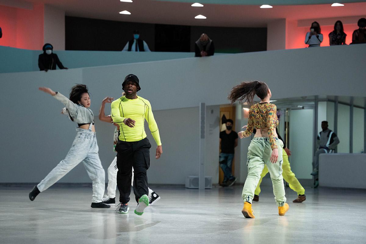 "Omari Wiles and Les Ballet Afrik - ""<I>Take Me Back</I>"" from <I>New York is Burning</I>.<br />© Titus Ogilvie-Laing. (Click image for larger version)"