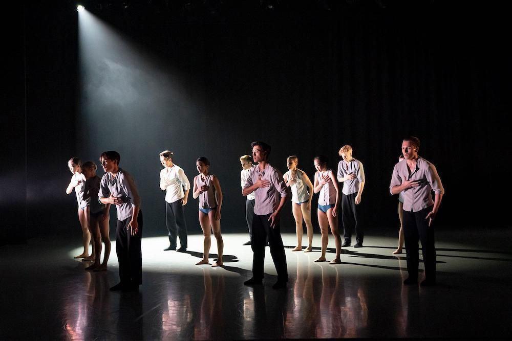Northern Ballet in Amaury Lebrun's For an Instant.© Emma Kauldhar. (Click image for larger version)