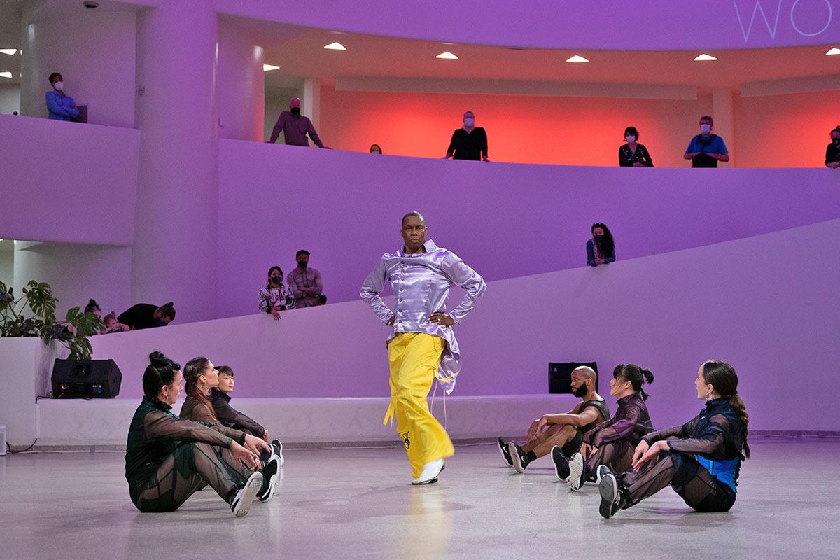 Archie Burnett and Ephrat Asherie Dance in <I>UnderScored</I>.<br />© Erick Munari. (Click image for larger version)