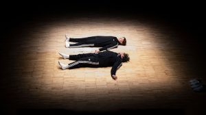 Janine Harrington and Christopher Matthews in Lads.© Foteini Christofilopoulou. (Click image for larger version)