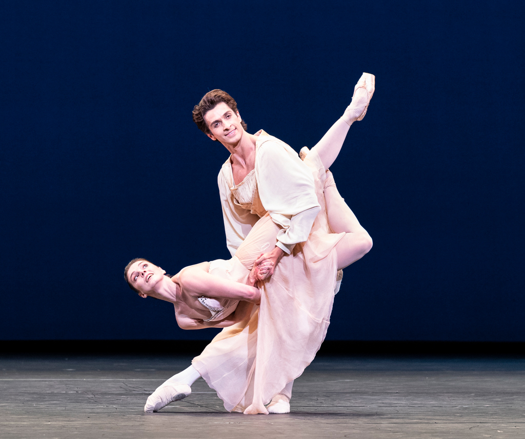Natalia Osipova and Reece Clarke in <I>Tchaikovsky Pas de Deux</I>.<br />© Foteini Christofilopoulou, courtesy the Royal Opera House. (Click image for larger version)