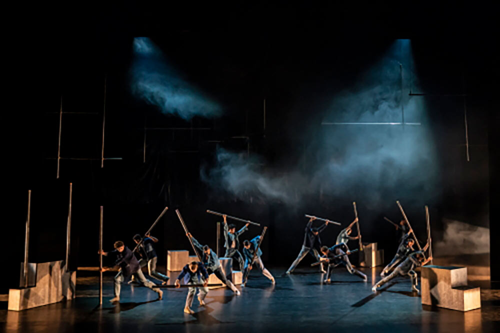 Birmingham Royal Ballet in Miguel Altunaga's <I>City of a Thousand Trades</I>.<br />© Johan Persson. (Click image for larger version)